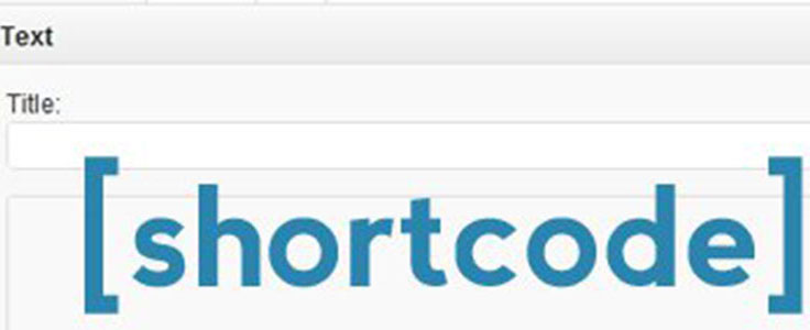 Un shortcode dans un widget texte