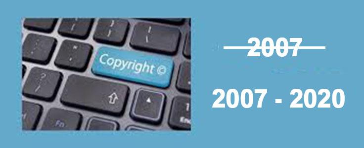 Afficher une date dynamique dans le copyright du footer